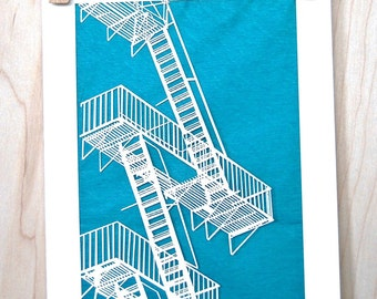 Fire Escape laser cut greeting card for any occasion