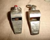 Vintage 1950s Wilson Olympia Metal Whistles England Japan