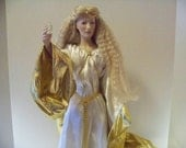 Franklin Heirloom Doll Lord of The Rings Queen Galadriel 1st Edition Original box with papers 1988