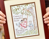 Psalm 127 Sampler - 100% Cotton Embroidery Pattern