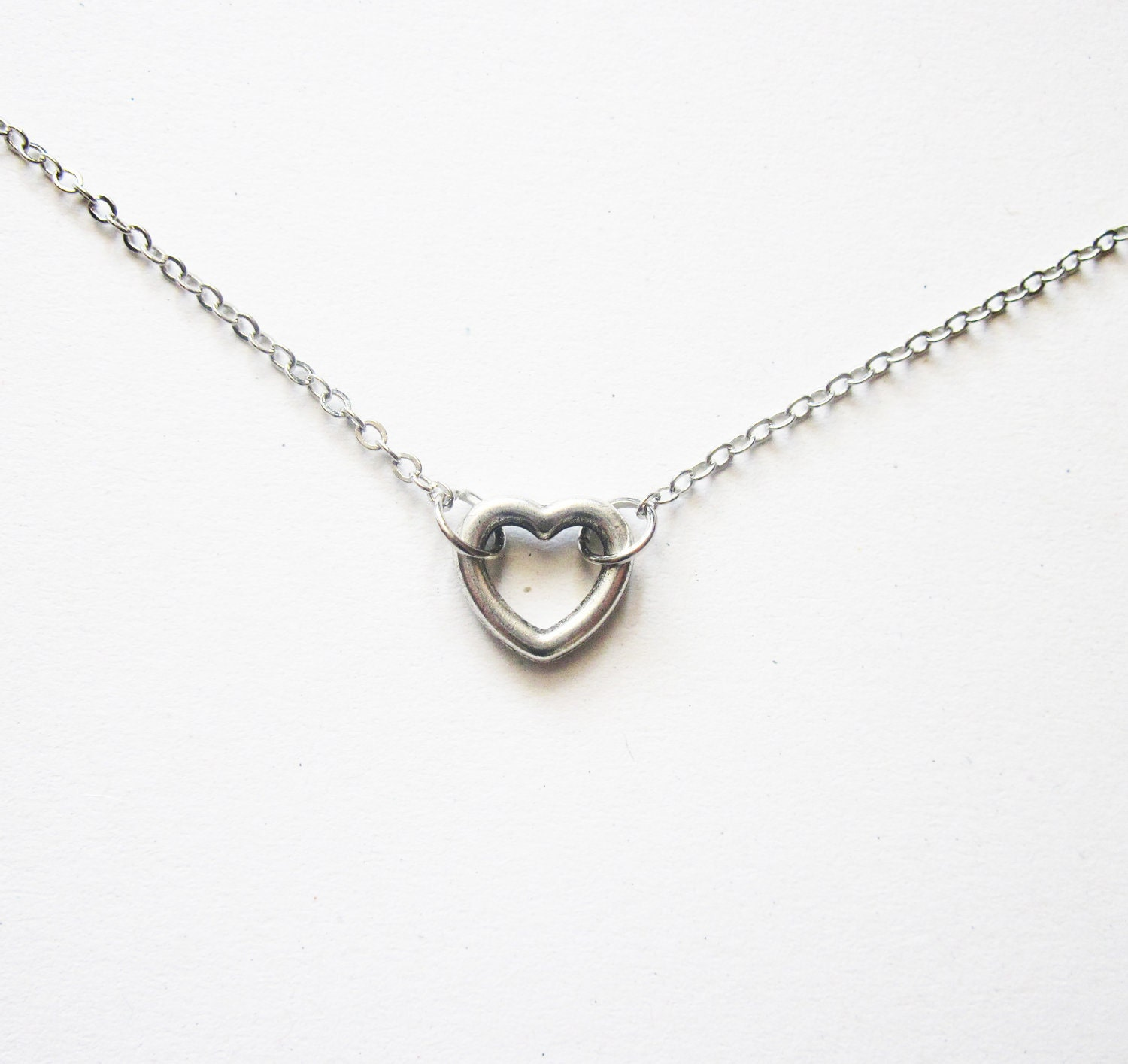 small necklace simple silver necklace everyday jewelry