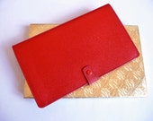 Red Vintage Wallet - 1960s'  Genuine Morocco leather wallet - With original box