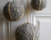Lavender covered pomander balls