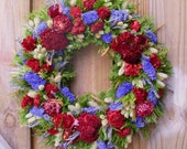 Dried Flower Wreath, Mother's Day Wreath, Summer Wreath
