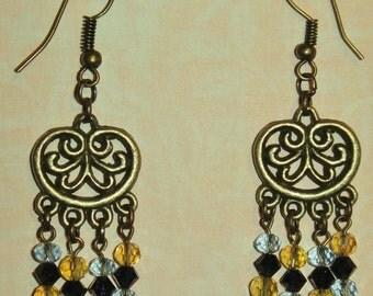 Bronze Swarvoski Crystal Earrings