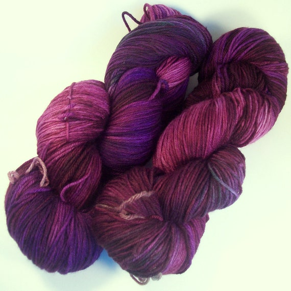 Completely different purple on Squishysock MCN fingering weight yarn