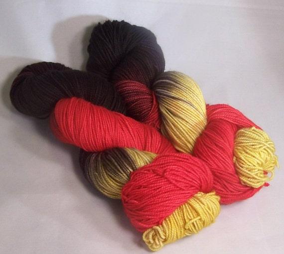 SALE Heart Queen on Merino Max SW Merino Nylon Hand dyed fingering weight sock yarn