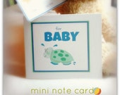 turtle mini note card