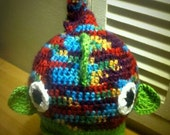 Kids crochet Funky Fish Hat