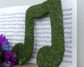 Moss Letters Music Note 12'' DOUBLE NOTE - Rustic Decor