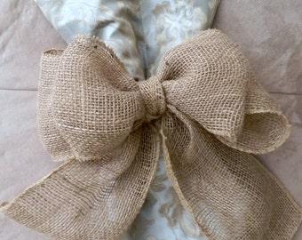 Burlap Bow Curtain Tie Back Wreath Decoration Wedding Decoration