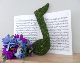 Moss Letters Music Note 12'' SINGLE NOTE - Rustic Decor