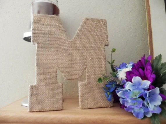 Burlap Letters - Rustic Wedding Moss Alternative (Other Sizes available) A - Z