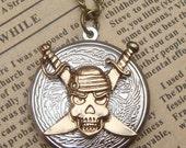 Steampunk Skull Locket Necklace Vintage Style Original Design