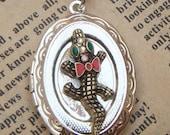 Steampunk Cayman Locket Necklace Vintage Style Original Design