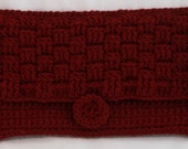 Red Crocheted Clutch Weave Design