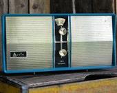Working Retro Arvin Powder Blue Radio, Cute Vintage Decor, Music