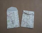 Handmade old map envelopes