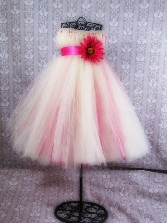 Daisy embelished tulle Tutu flower girl dress - photo #31
