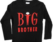 Big Brother Long Sleeved Tee (black with red graphic)