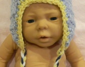 Blue and Yellow Earflap Hat