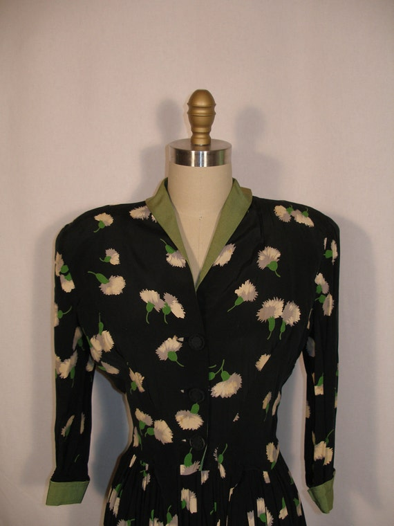 1940s Rayon Suit Skirt and Jacket