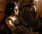 18 inch Doll Dress in Brown Calico