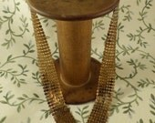 1980's Mesh Gold toned V necklace.