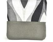 Khaki Cotton Cosmetic Bag - Makeup Bag - Toiletry Bag _Christmas gift