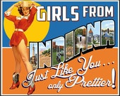 Indiana Retro Pin Up Girl Girls from Indiana