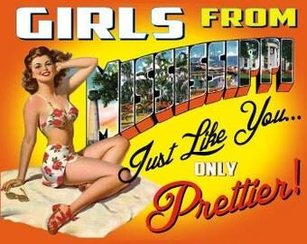Mississippi Retro Pin Up Girl Girls from Mississippi