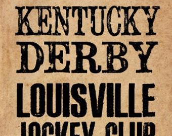 Kentucky Derby Historical Handbill - 12X18 POSTER PRINT
