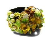 SECRET GARDEN-Bracelet Designed With Vintage Repurposed Jewelry