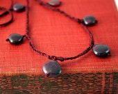 Oxblood Red, Rubies and Silk Necklace