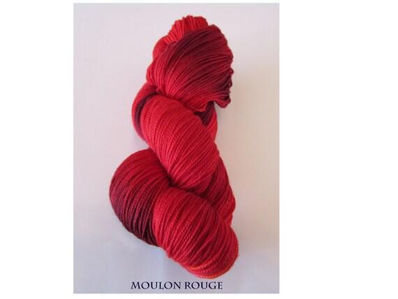 Superwash Merino Sock Yarn - Moulon Rouge (Red)