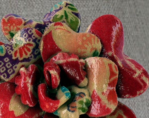 Valentine Red and Pink Boot or Shoe Clip