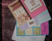 Handmade Birthday Cards, Set of 4