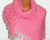 three-dimensional, swirl, pink woman shawl. Versatile shawl. wedding bridal shawl. knitting, fashion,shrug. Personalized shawl.