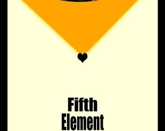 Fifth Element retro movie poster - 8x10