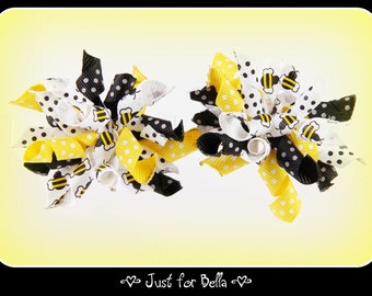 Bumblebee Korker Dog Bows