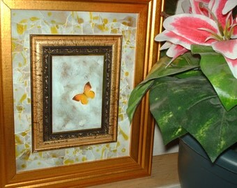 Just Flying Through Butterfly Marble Mosaic Wall Art