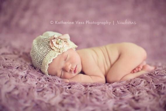 Matilda-Vintage Lace Bonnet- Professional Photography Prop