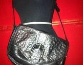 Vintage leather bag / black