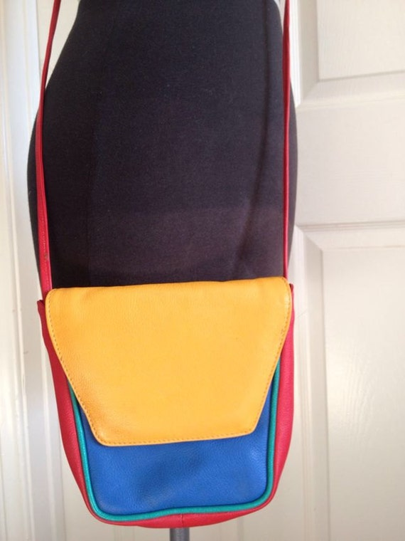 Vintage Multi-Colored cross body Purse / AWESOME