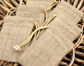 Reserved Listing 50 Organic Burlap Bags Shabby Chic Rustic Weddings Favors Home Decor Gift Bags
