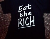99 percent / Eat the Rich Black T-Shirt