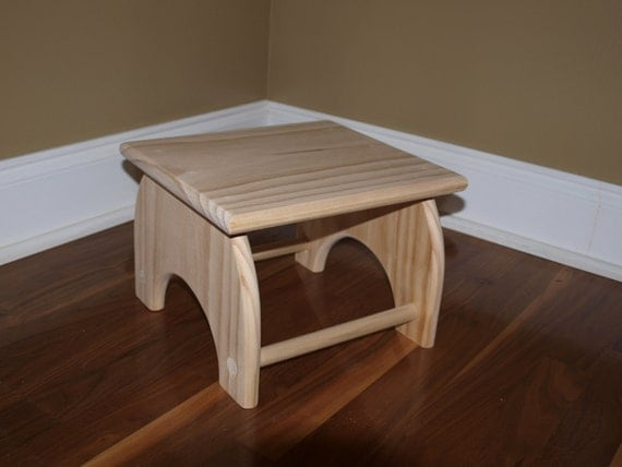 Unfinished Childrens Step Stool