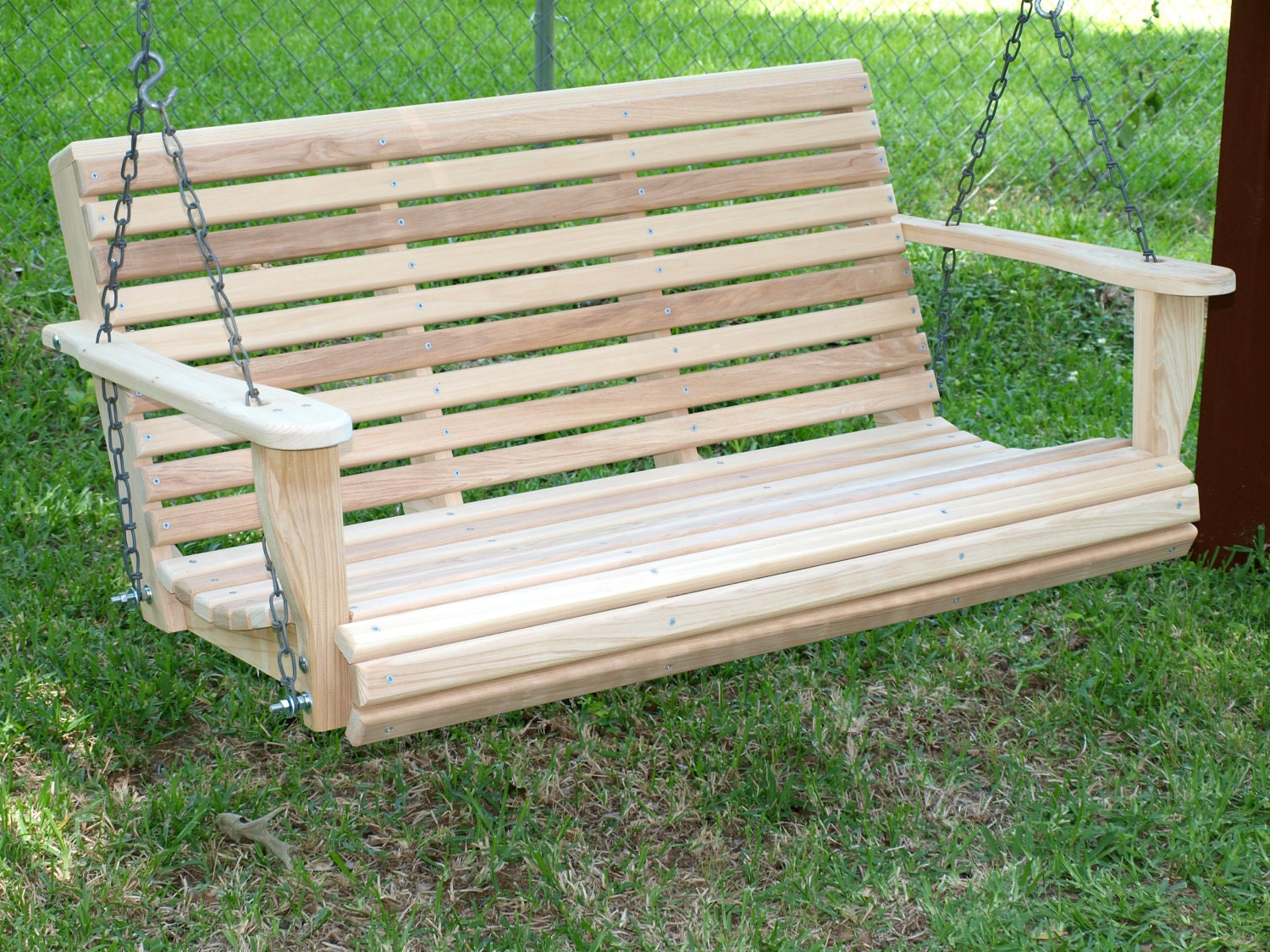 4 foot classic cypress porch swing for Old porch swing