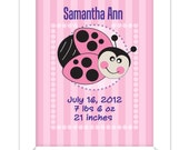 Nursery Lady Bug Name Print - Kids Art, Kids Custom Print for Baby and Childrens Decor