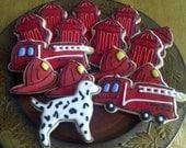 Fireman themed cookies